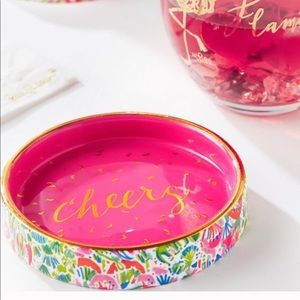 Lily Pulitzer wine coaster